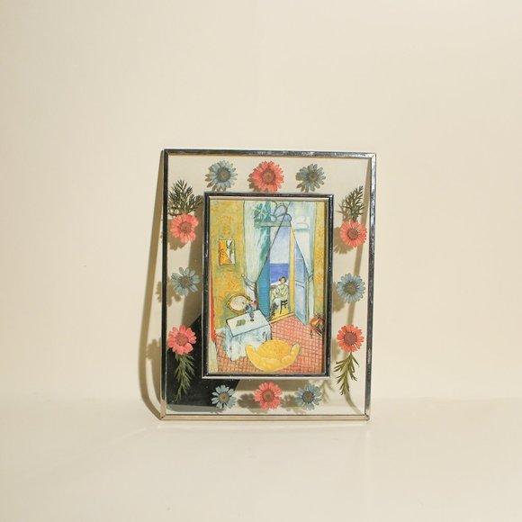 Pressed Flowers Glass Matisse Postcard Framed